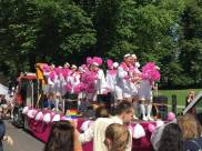 "The ""faggotkoret"" (a gay mens choir) in the parade"